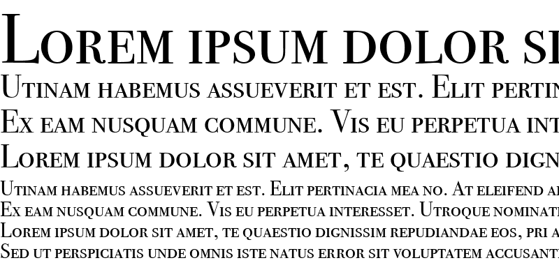 Sample of Bodoni SvtyTwo SC ITC TT