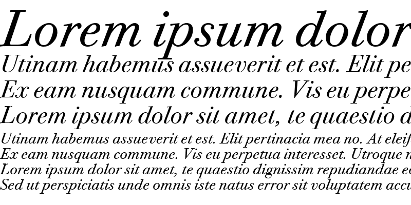 Sample of Bodoni Twelve ITC TT BookItalic