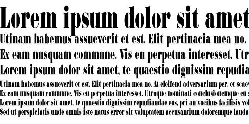 Sample of Bodoni-UltraCondensed