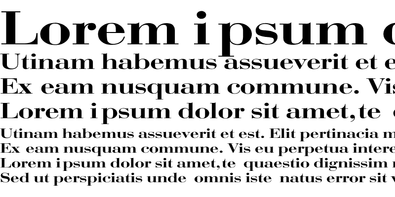 Sample of Bodoni Wide