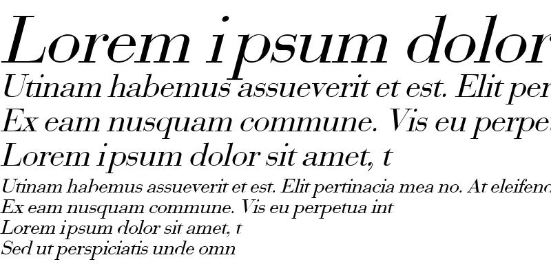 Sample of Bodoni2