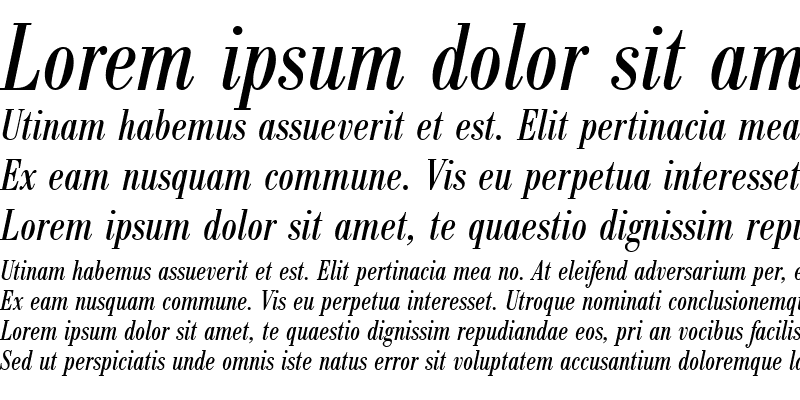 Sample of BodoniAntTCon Italic
