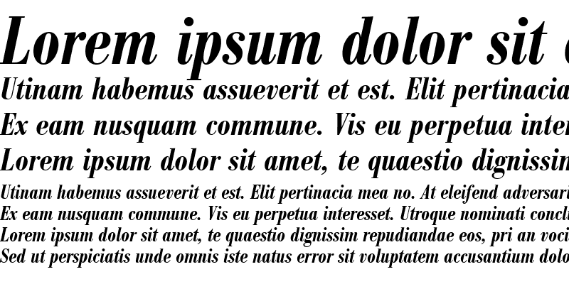 Sample of BodoniAntTDemBolCon Italic