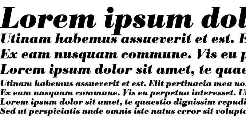 Sample of BodoniAntTEE Bold Italic