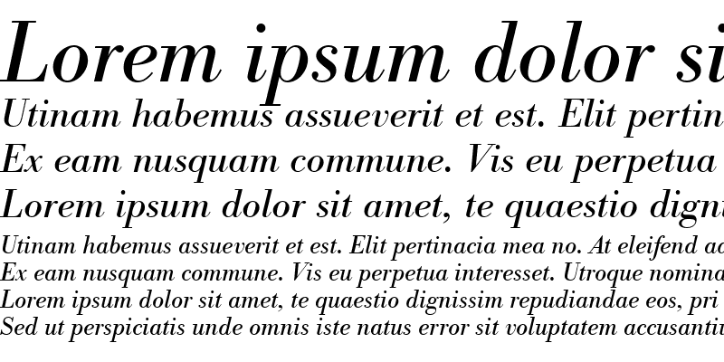 Sample of BodoniAntTEE Italic