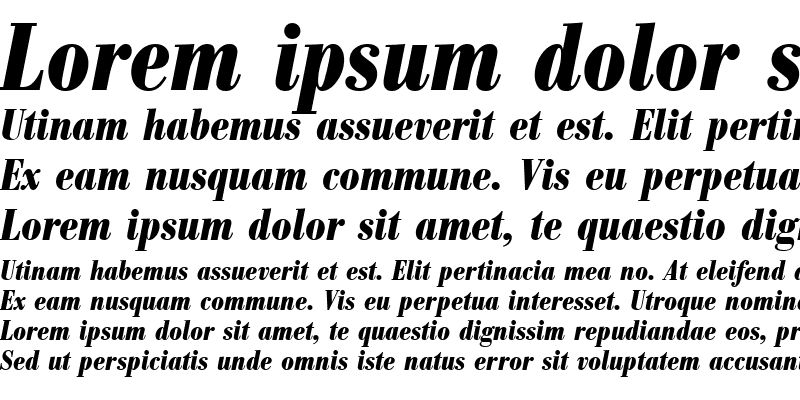 Sample of BodoniAntTEECon Bold Italic