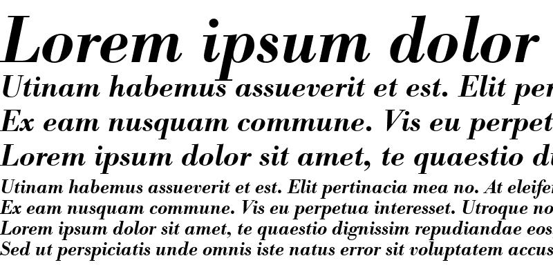 Sample of BodoniAntTEEDemBol Italic