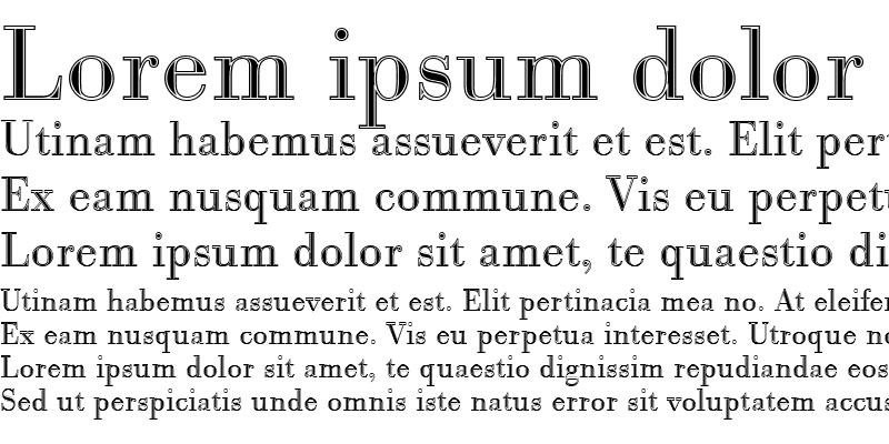 Sample of BodoniAntTLigIn1 Regular