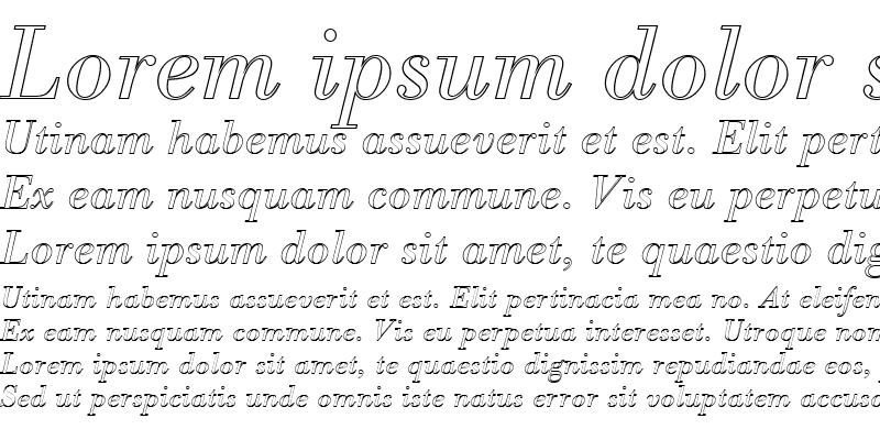 Sample of BodoniAntTLigItaOu1