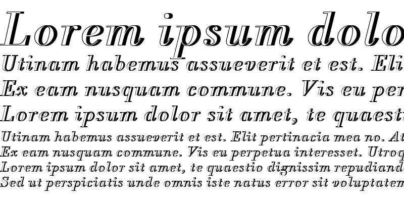 Sample of BodoniAntTLigItaRe1