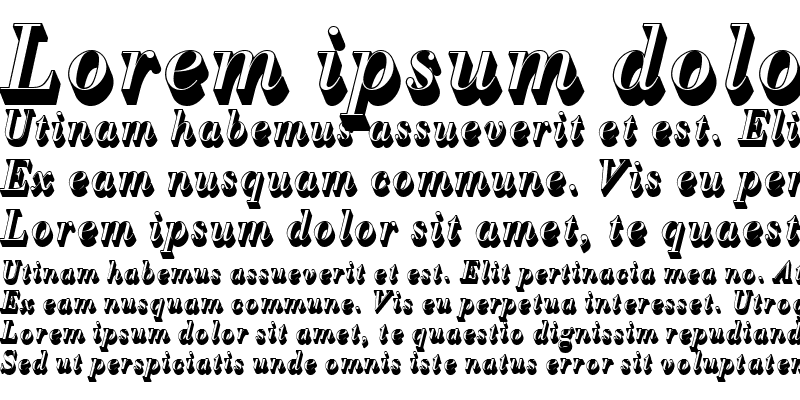 Sample of BodoniAntTLigItaSh1 Regular