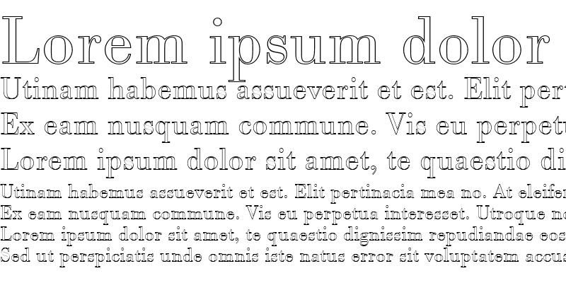 Sample of BodoniAntTLigOu1