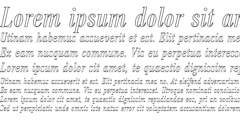 Sample of BodoniAntTRegConItaOu1 Regular
