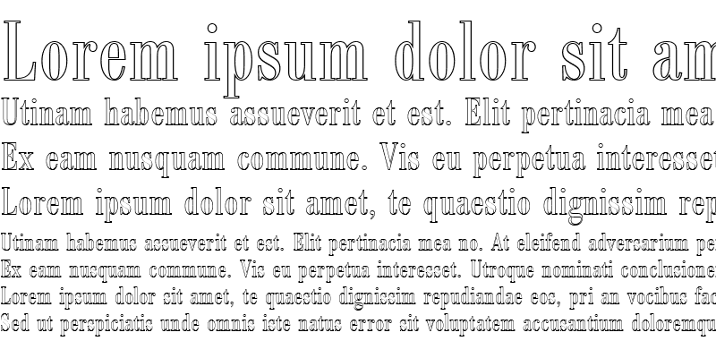 Sample of BodoniAntTRegConOu1