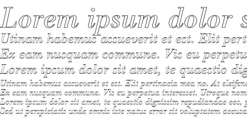 Sample of BodoniAntTRegItaOu1