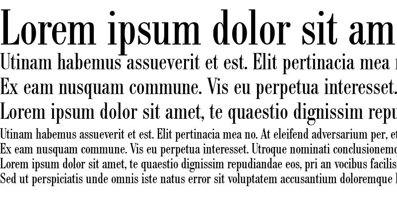 Sample of BodoniBE-Condensed Roman