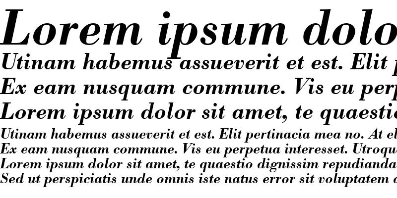 Sample of BodoniBE-Medium