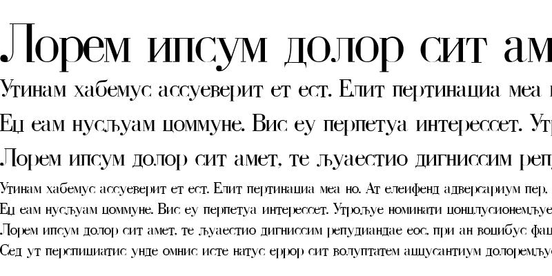 Sample of BodoniCir