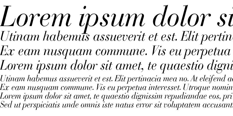 Sample of BodoniClassic Italic