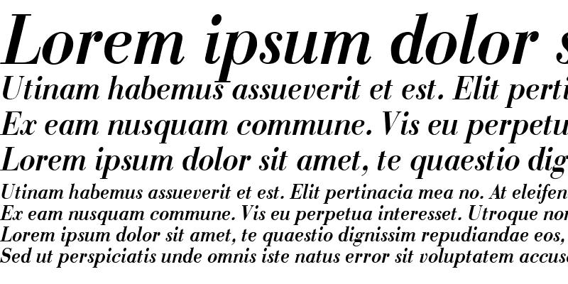 Sample of BodoniCondensed Bold-Italic