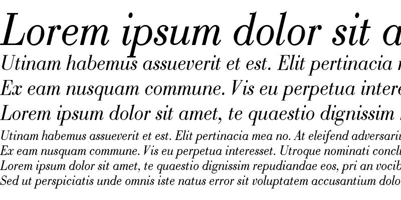 Sample of BodoniCondensed Italic
