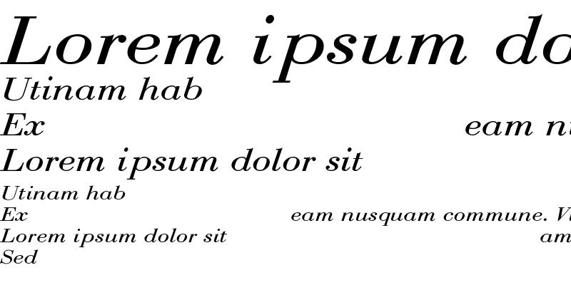 Sample of BodoniExt-Normal-Italic