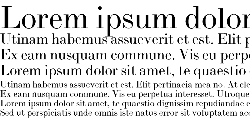 Sample of BodoniH