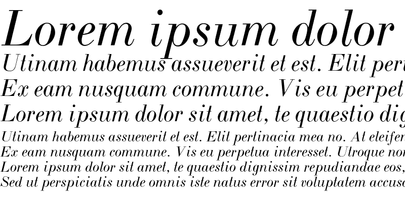 Sample of BodoniL-Italic