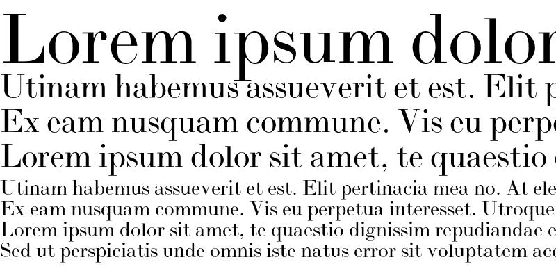 Sample of BodoniL