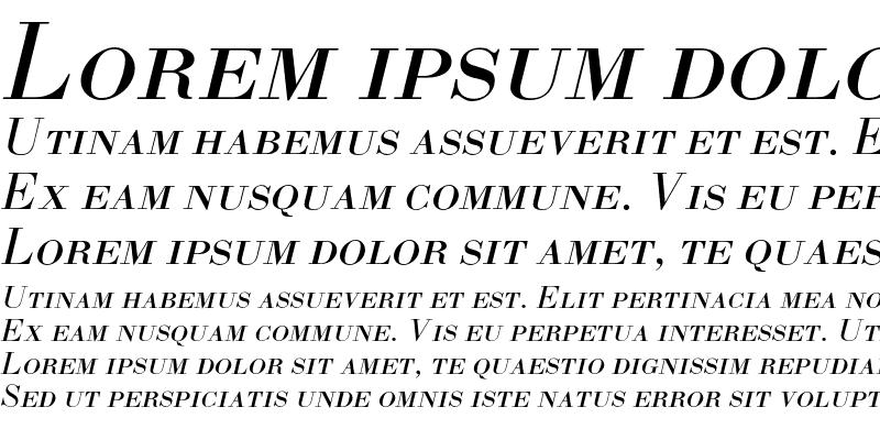 Sample of BodoniL-SC-Italic
