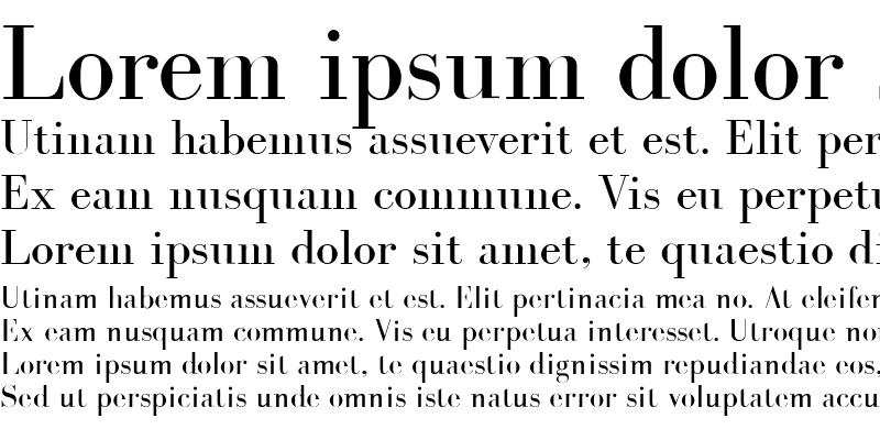 Sample of BodoniLaser