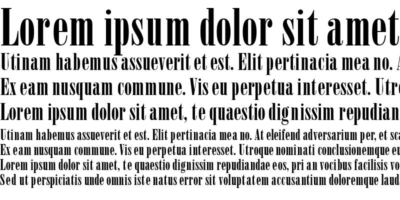 Sample of BodoniPosterCondSSK