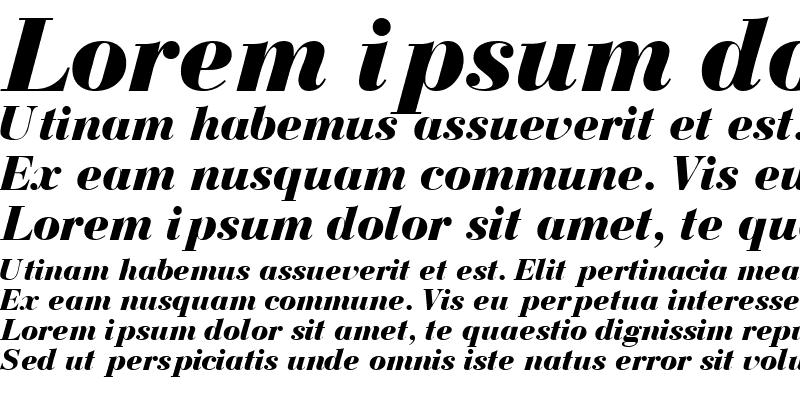 Sample of BodoniRecutBlackSSK Italic