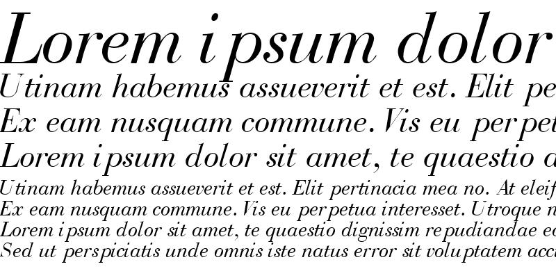 Sample of BodoniRecutOSSSK Italic