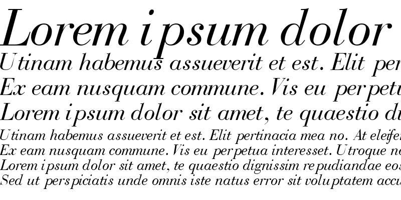 Sample of BodoniRecutSSK Italic