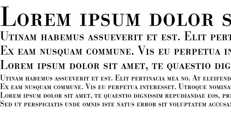 Sample of BodoniSCEF