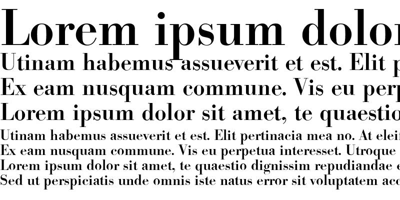 Sample of BodoniSerial Medium