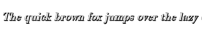 Preview of BodoniSh Italic