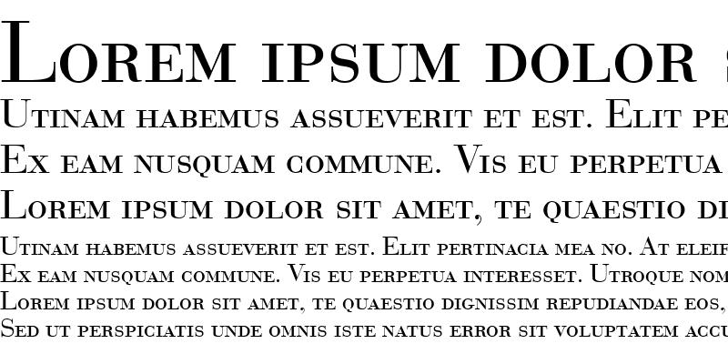 Sample of BodoniSmc