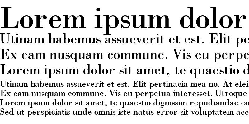 Sample of BodoniSSK Regular