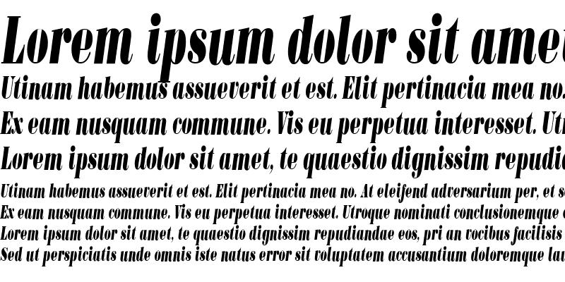 Sample of BodoniUltraFLFCond Medium Italic