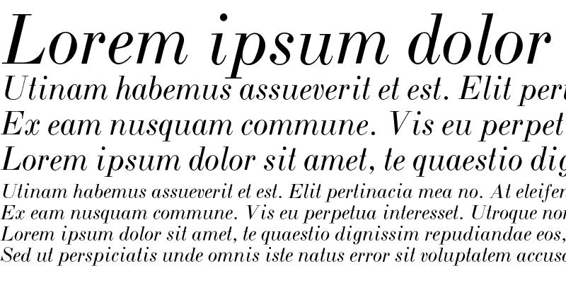 Sample of BodoniZL-Italic