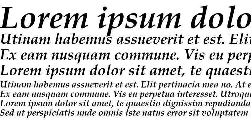 Sample of Book Antiqua Bold Italic
