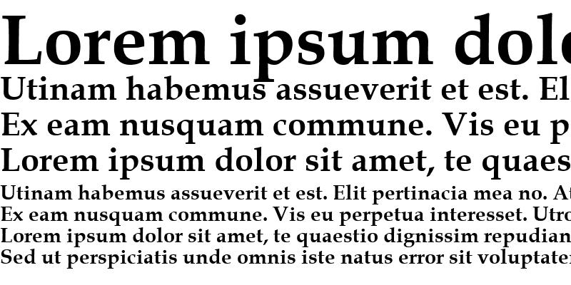 Sample of Book Antiqua Bold