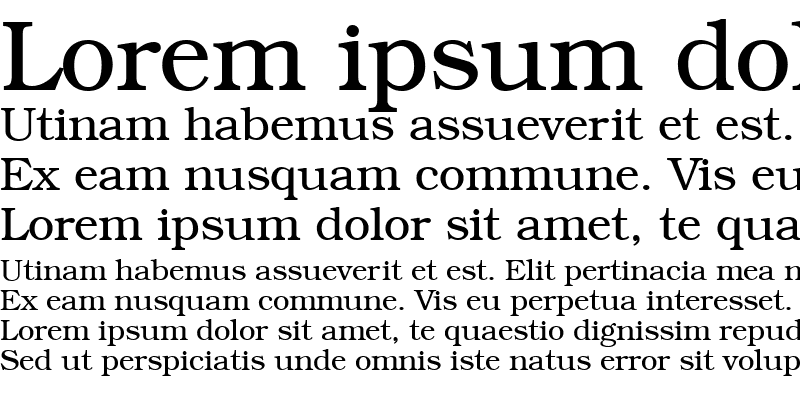 Sample of BookFont