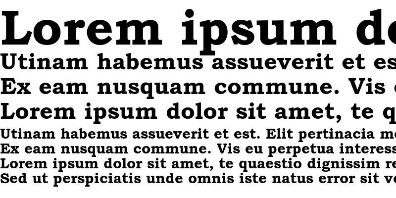 Sample of Bookman Old Style Std Bold
