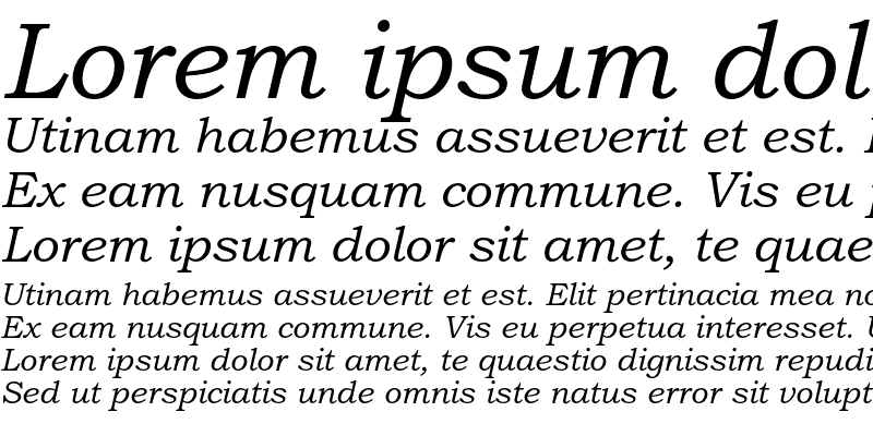Sample of Bookman Old Style Std Italic