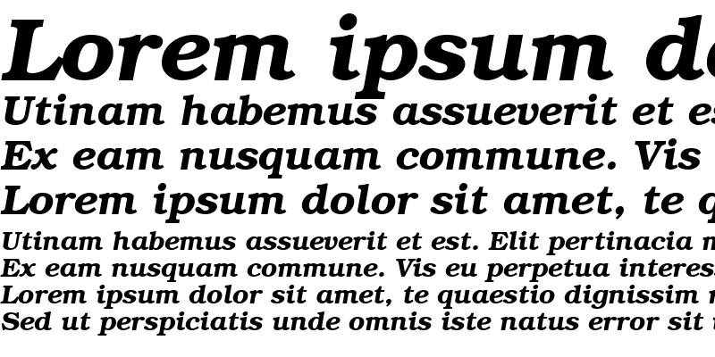 Sample of BookwomanSH Demi Italic