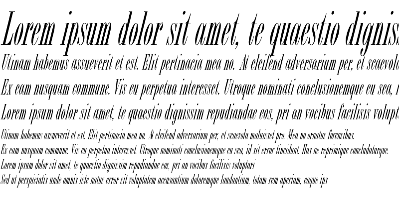 Sample of Bordeaux Roman Std Italic