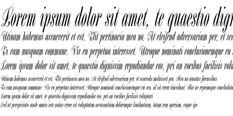 Sample of Bordeaux Script LET Plain